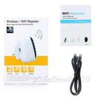 Wholesale Router Signal Repeater - 300Mbps EU US UK AU Plug Wireless N 802.11N B G WPS WiFi Repeater Network for AP Router Range Signal Expander Extend