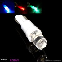 Wholesale Blue Indicator Lamp - white red blue T5 286 74 Amber 1 LED Bulbs Wedge Base Dashboards light instrument indicator clearance marker Lamp