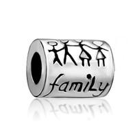 ingrosso perline europee pandora porcellana-Tubo Cina Famiglia Metal Factory Slider Bead Big Hole europea Spacer Charms Fit Pandora Chamilia Biagi Charm Bracelet