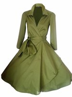 Wholesale Fall Tunics - Wholesale- Tunic Rockabilly Windbreaker Women Long Bblazer Retro Big Swing Autumn Basic Coats Ladies Fall 2016 Vintage suit Jacket 50s 60s