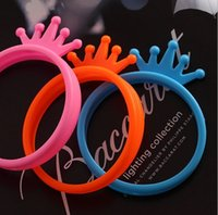 Wholesale Rabbit Hair Bracelet - Universal Silicone Bumper Frame wristband Bracelets Mickey Rabbit bear ears Crown bowknot Lover Case Multi-Purpose Bracelet hair ring