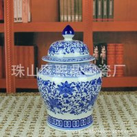 blue ceramic canisters - Blue and white ceramics in Jingdezhen ceramic crafts Tea Caddy Canister general pot ceramic manufacturers