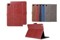 Wholesale Wholesale Crazy Horse Leather Bags - Mini4 Retro Crazy Horse Leather Wallet Case Bag pouch Credit Card Slot Stand Holder For iPad 2 3 4 5 6 Air Air2 Mini Mini2 Mini3