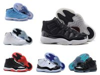 Wholesale Men S Winter Leather - Legend Blue Retro 11 XI Bred Basketball Shoes Cheap Good Quality Men Sports Shoes Discount Sports Sneakers Leather Men s Basketball Shoes