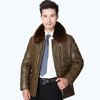 Wholesale Cheap Pu Jackets - Fall-2015 Free Shipping Men's Winter Leather Jacket New Fur Collar Solid Color PU Leather Cheap Leather Coats 210