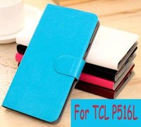 Wholesale Tcl Phone Covers - New Styles PU Leather Flip Cell Phones Cover For TCL P516L Case (Gift Touch Pen)