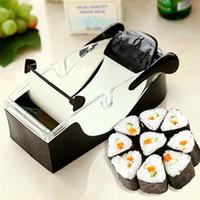 acessórios de cozinha fabricante de rolo de sushi venda por atacado-Cozinha Rolo De Sushi Rolo Mágico Perfeito Fácil Fabricante de Sushi Rolo Cortador DIY acessórios de cozinha Perfeito Magia Onigiri Ferramenta de Rolo