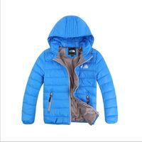 Wholesale Yellow Down Jacket Kids - Baby Boys Jacket 2017 Winter Jacket For Girls Jacket Kids Warm Hooded Pure Color Infant Boys Coat Children Outerwear Clothes