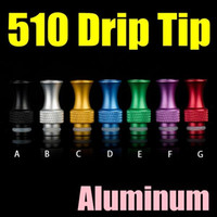 Wholesale Electronic Cigarette Aluminum - Hot Sale 510 Drip Tips Rich Pure Colors Aluminum Electronic Cigarette Mouthpiece Suit For IGO W3 Patriot Clearomizer FJ593