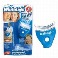 Wholesale Led Teeth Whitening Kits - LED WhiteLight kit Teeth Whitening System Kit Tooth Cleaner Whitelight New Dental Oral Care Whitening System Kit
