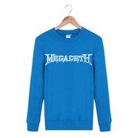 Wholesale Rock N Roll Sweatshirts - Wholesale Fashion Hip Hop DJ EDM Megadeth ROCK N ROLL Band Spring Autumn Ourdoor Casual Crewneck Pullover Streetwear Sweatshirt Men