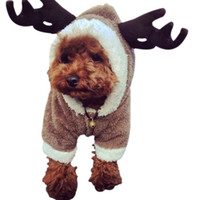 Wholesale Quality Dog Coats - New Creative Elk Pet Clothes Tactic Christmas Pet Dog Clothes Turned With Thickened Legs Autumn And Winter Pet Supplies Top Quality