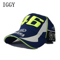 BLU Nuovo design F1 Racing Cap Car Motocycle Racing MOTO GP VR 46 Rossi Ricamo Sport Hiphop Cotton Trucker Cappello da baseball