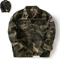 hoodies do revestimento do exército para homens venda por atacado-Top Super Exército DOS EUA Homens Casacos Verdes Moda camuflagem Primavera Outono Outerwear casacos MA piloto Masculino Masculino Do Punk hiphop Hoodies menino outwear