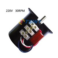 Wholesale Geared Synchronous Motors - Electrical motor Reversible all metal gear 220v 14w 30rpm AC Synchronous motor,Ac motor,gearbox motor from tsinymotor,free shipping