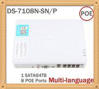 kamera ds toptan satış-Büyük Promosyon Yeni Çoklu dil DS-7108N-SN / P Fiş 8 Bağımsız PoE ile HD IP Kamera için 8CH PoE NVR Oynamak