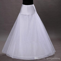 Wholesale Tulle Wedding Dress Slips - Free Shipping in Stock 1-hoop 2-layer Tulle Aline Petticoat Bridal Wedding Petticoat Underskirt Crinolines for Wedding Dress