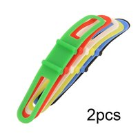 Wholesale Silicone Bike Cycling Rubber Light - 2Pcs Cycling Bike MTB Silicone Elastic Rubber Strap Bandage Mount Holder For Head Light Flashlight Colorful Multicolor Useful