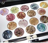 gebackene lidschatten make-up großhandel-So schön! Professionelles Make-up Palette 18 Farben gebackenen Lidschatten Fantastische Lidschatten Kit Diamant glänzende Glitter Lidschatten Augen Make-up