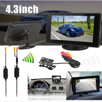 Wholesale Video Transmitter Camera Kit - 4.3 Inch Color TFT Car Monitor +420 TV Lines Night Vision Rear View Camera+Video Transmitter and Receiver Kit CMO_51K