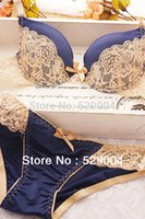 Wholesale Underwear Sets Womens Free Shipping - Wholesale-2015 New France VS desigh big sell lace yough girl's push up bra sets womens Underwear Set free shipping