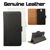 Wholesale Stand Holder Pouch Case - For OnePlus One Flip Real Genuine Leather Wallet Phone Case Cover with Stand Card Slot Holder Pocket Pouch for One Plus One