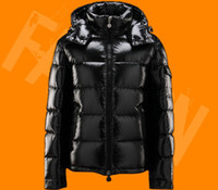 Wholesale Hooded Mens Light Jacket - Moncle Classic Style Men Down Jacket Top Quality Outdoor Black Bright light casual hooded Down Coat outerwear mens warm jackets M-2XL