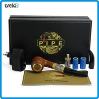 Wholesale 618 Electronic Smoking Pipe - ePipe 618 Kit E pipe 618 electronic smoking pipe vaporizer with wooden mod 2.5ml atomizer 18350 battery Electronic Cigarette DHL Ship