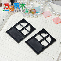 Plastics block lock door - compatible black door self locking toys building blocks enlighten train toys figures