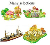 Wholesale 3d Cardboard Model Puzzles - Wholesale-3D building & vehicle puzzles model,3D Assembles paper model,creative DIY toy,Educational Intelligence toys,cardboard puzzles