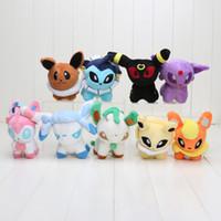 """Wholesale Video Games Plush - Pikachu Plush Toy 9 Styles 6"""" Umbreon Eevee Espeon Jolteon Vaporeon Flareon Glaceon Leafeon Plush doll stuffed Toys"""