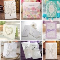 Hot selling Sample - Wedding Invitations Cards Personalized Invitation Cards Many Styles for Choose Free Shipping 1 lot = 3pcs