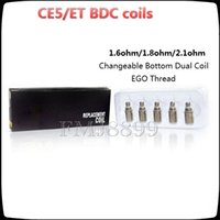 Wholesale Bottom Coil Changeable - Replacement coil BDC CE5 coils for ET-S BDC CE5 CE5-S Atomizer Changeable Bottom Dual Coil 1.6 1.8 2.1ohm coils vs protank 2 3 ICLEAR 30 30s