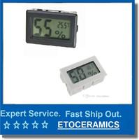 termómetros interiores al por mayor-Mini Temperatura Medidor de Humedad Digital LCD Termómetro Higrómetro Interior Sin sonda Higrómetro Medidor de Temperatura Medidor de Temperatura