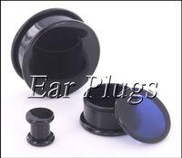 Wholesale Tunnels 24mm - Box Plugs black acrylic thread hollow center stash ear plug gauges ear tunnel expander 10-24mm 80pcs bag ASP0493