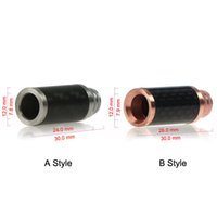 Wholesale fiber copper - Copper Stainless Steel & Carbon fiber material wide bore Drip Tip 510 EGO Atomizer Mouthpieces for RAD EE2 Evod tank Electronic Cigarettes