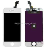 écran lcd pour iphone 5g achat en gros de-Grade A +++ Digitizer écran complet LCD Display Assemblée complète pour iPhone 5 5G 5S 5C pièces de rechange de réparation livraison gratuite