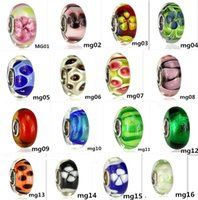 Wholesale Millefiori Murano Glass Bracelets - 54 kinds S925 Sterling Silver Fascinating Faceted high fire Murano Glass Beads Fit Europe pandora Jewelry Charms DIY Bracelets & pendants