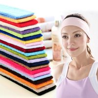 Livraison gratuite Stretch bandeau Sports Fitness Yoga bande de cheveux Sweat Head Wrap unisexe Stretch Bandanas serviette bandeau Yoga cheveux bandes colorées
