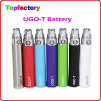 Wholesale Ce4 Atomizer Charging - Micro USB Passthrough UGO-T Battery 510 Thread E Cigarettes Charge Android Cable Ego-T Batteries 650mAh 900mAh 1100mAh Fit 1453 CE4 Atomizer