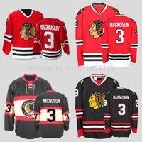 venta de camisetas de hockey vintage al por mayor-2017 Chicago Blackhawks Hockey sobre hielo Jerseys Keith Magnuson Home Red CCM Vintage cosido Turn Back Jerseys Tamaño S ~ XXXL Envío gratis para la venta