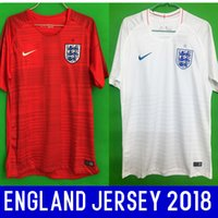 Wholesale United Kingdom Shorts - Thailand quality England soccer jerseys 2018 world cup UNITED KINGDOM football kit soccer shirt shorts home white away red jerseys