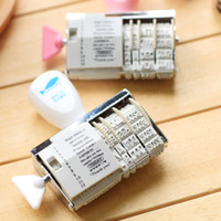 Wholesale Decorations Roller - DIY Roller Knob Seal Text Date Ink Rubber Stamp Diary Photo Album Decoration