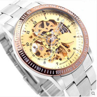 Wholesale Mechanical Dragon Model - 2015 explosion models double-sided hollow automatic mechanical watches, dragon through the end of the male form, extraordinary design!