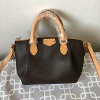 Wholesale Top Grade Branded Handbag - woman handbags L Top Grade Lady Brown Mono Genuine Leather shopping handbag classic Women Marais luxury brand MM M41070 M41071 Tote Bag