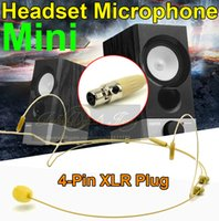 Wholesale connector microphone pin resale online - Skin Color Mini XLR TA4F Pin Connector Plug Headworn Headset Microphone Ear Hook For Wireless BodyPack Transmitter
