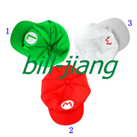 Vente en gros-Super Mario Bros Anime Cosplay Hat Mario Luigi Cap 1pc / lots
