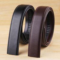 Wholesale men s headbands - Wholesale-Fashion Men's Leather Belt 2015 New Mens Brand No Buckle Belt Smooth Body Men Strap Cintos Without Headband