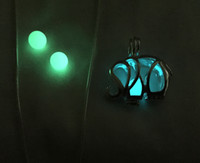 Wholesale Glow Lockets - {Elephant Pendant} Dropship Elephant Luminous Glowing Bead Pendant, Pendant Necklace , Recyclable Glowing Stone Pendant , Can Open Pendant