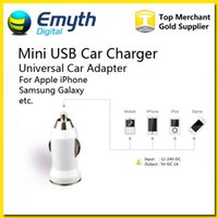 Wholesale Usb Player Adapter - Mini USB Car Charger USB Charger Universal Adapter for iphone 5 4 4S 6 Plus Cell Phone PDA MP3 MP4 player Galaxy